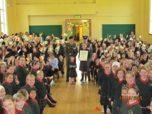 The whole school joining in the celebrations.