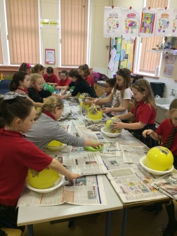 Paper, paste and a mess - who doesn't love paper mache???