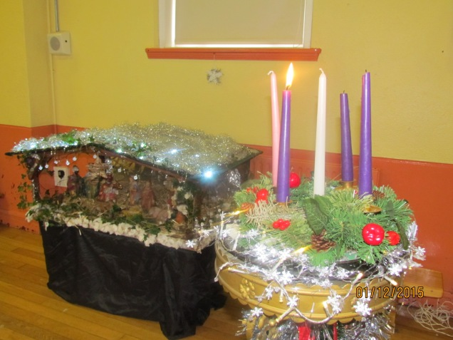 The first of the advent candles lighting, heralding the fact that it is finally the season!!