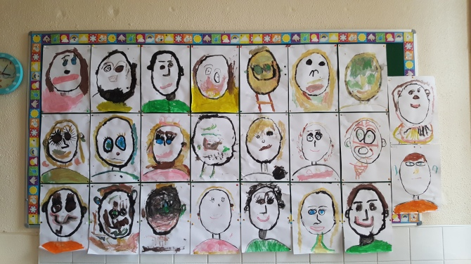 Self Portraits in Ms. Lee's